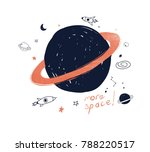 hand drawing space illustration ... | Shutterstock .eps vector #788220517