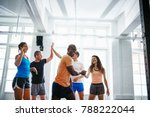smiling group of diverse... | Shutterstock . vector #788222044