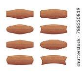 set of wooden signboards.... | Shutterstock . vector #788230819