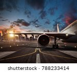 detail of commercial airplane... | Shutterstock . vector #788233414