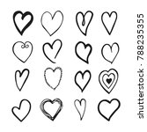 black and white hand drawn set...   Shutterstock . vector #788235355