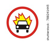 prohibiting traffic sign. the...   Shutterstock .eps vector #788241445