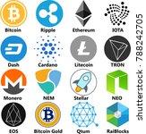 vector illustration of bitcoin  ...   Shutterstock .eps vector #788242705