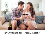 young romantic couple sitting... | Shutterstock . vector #788243854