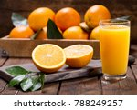 Glass of fresh orange juice...