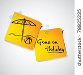 drawing of beach umbrella on... | Shutterstock .eps vector #78825235