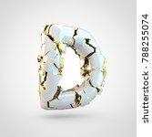 cracked letter d uppercase. 3d... | Shutterstock . vector #788255074