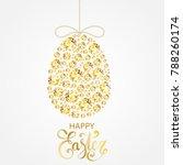 diamond easter egg decoration....   Shutterstock .eps vector #788260174