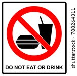 prohibition signs for eating... | Shutterstock . vector #788264311
