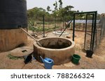 view of a water solar pumping... | Shutterstock . vector #788266324
