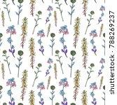 line art. motley seamless... | Shutterstock . vector #788269237