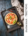 traditional pizza with smoked... | Shutterstock . vector #788274541