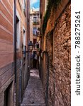 Narrow Alley And Houses In Old...