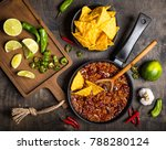 chili con carne in frying pan... | Shutterstock . vector #788280124