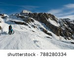 mountaineer on ebike  electric... | Shutterstock . vector #788280334