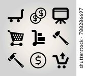 business vector icon set.... | Shutterstock .eps vector #788286697