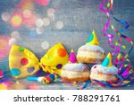 carnival powdered sugar raised... | Shutterstock . vector #788291761