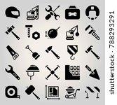 construction vector icon set.... | Shutterstock .eps vector #788293291