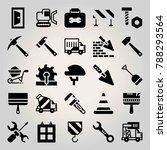 construction vector icon set.... | Shutterstock .eps vector #788293564