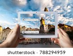augmented reality concept. hand ... | Shutterstock . vector #788294959