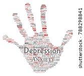 vector conceptual depression or ...   Shutterstock .eps vector #788298841