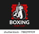silhouette of boxing gloves...   Shutterstock .eps vector #788299939