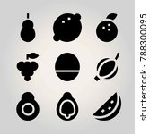 fruits vector icon set. quince  ... | Shutterstock .eps vector #788300095