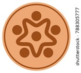 user organization bronze coin... | Shutterstock .eps vector #788305777
