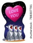 love you. valentines day card...   Shutterstock .eps vector #788307781
