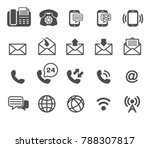 phone and email icons vector ... | Shutterstock .eps vector #788307817
