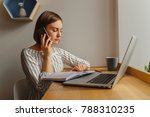 young business woman leading... | Shutterstock . vector #788310235
