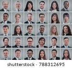 collage diverse faces... | Shutterstock . vector #788312695