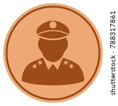 army general bronze coin icon.... | Shutterstock .eps vector #788317861
