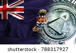 flag of cayman islands on a...
