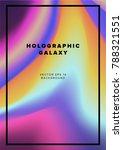sci fi futuristic book cover ... | Shutterstock .eps vector #788321551