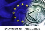 flag of european union on a... | Shutterstock . vector #788323831