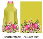 design dress with tropical... | Shutterstock .eps vector #788325409