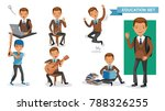 boys high school of education... | Shutterstock .eps vector #788326255
