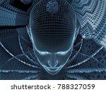 radiating mind series. 3d... | Shutterstock . vector #788327059