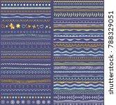 brush strokes  lines  ornaments.... | Shutterstock .eps vector #788329051