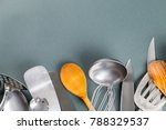used home kitchenware with... | Shutterstock . vector #788329537