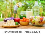 lifestyle food during yoga... | Shutterstock . vector #788333275