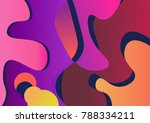vivid gradient melt background... | Shutterstock .eps vector #788334211