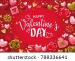 valentines day background... | Shutterstock .eps vector #788336641