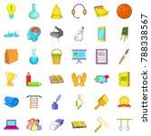 education in school icons set.... | Shutterstock . vector #788338567