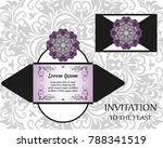 vector wedding invitation with... | Shutterstock .eps vector #788341519