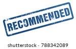 recommended rubber stamp...   Shutterstock . vector #788342089