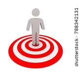 target people 3d illustration...   Shutterstock . vector #788342131