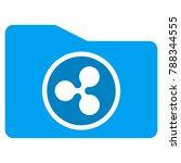 ripple purse flat vector icon.... | Shutterstock .eps vector #788344555