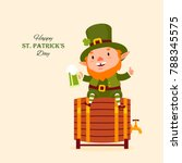 st.patrick 's day. leprechaun... | Shutterstock .eps vector #788345575